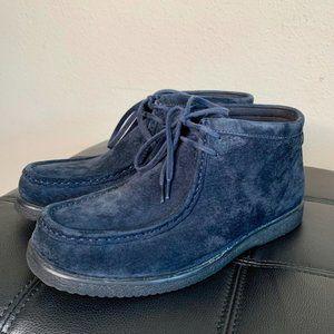 Hush Puppies Bridgeport Blue Suede Shoes